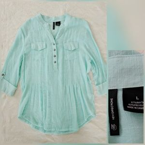 New Directions Top L Rayon Poly Pullover Boho